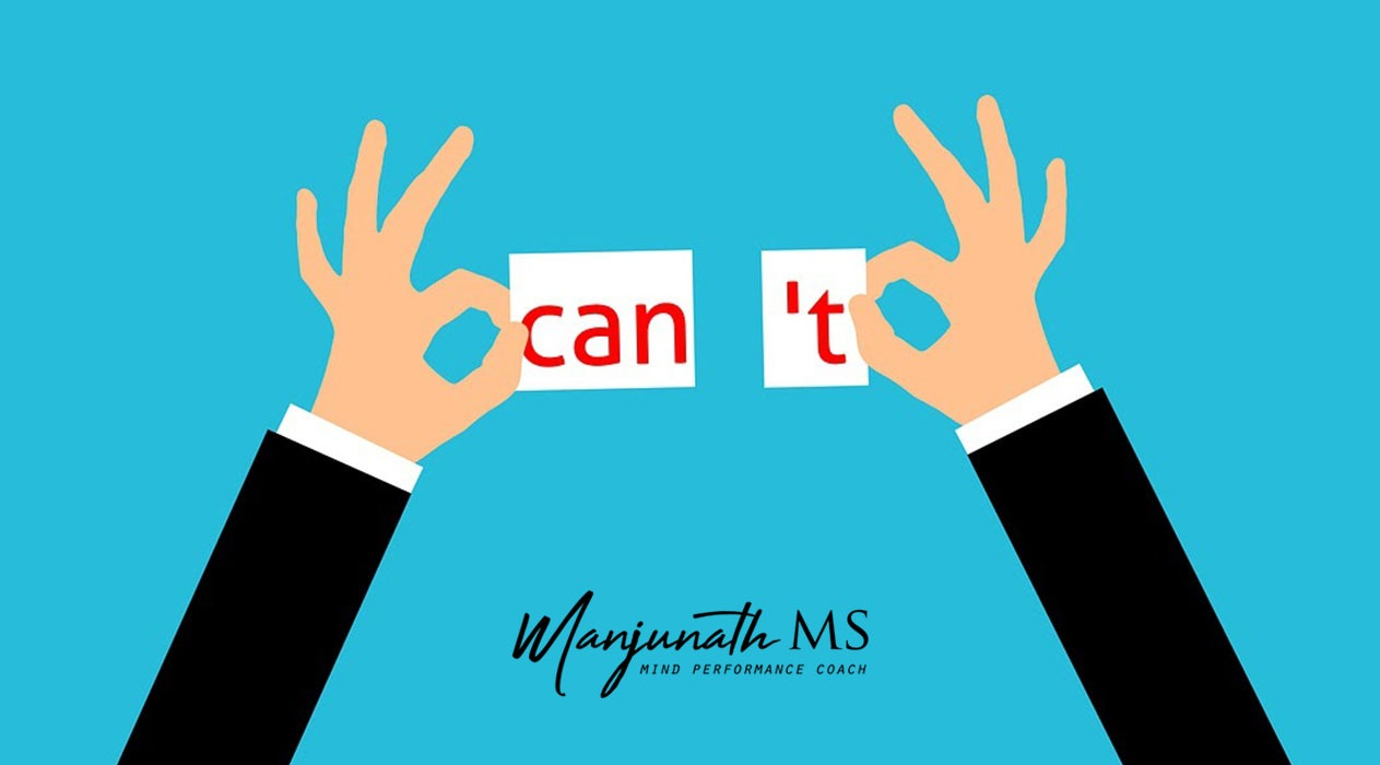 """Why removing the phrase """"I can't"""" from life is crucial"""